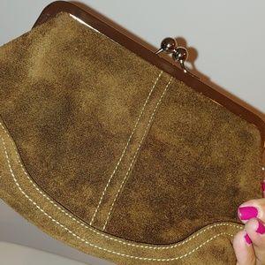 Coach Bags - Coach suede clutch bag